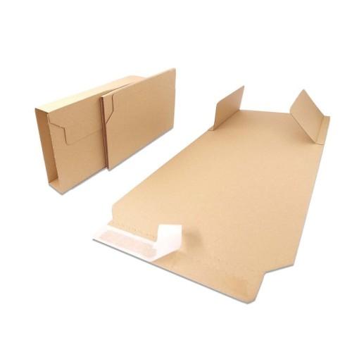 Opakowanie na książki 280x205x20-70 mm - BV 3 brązowe